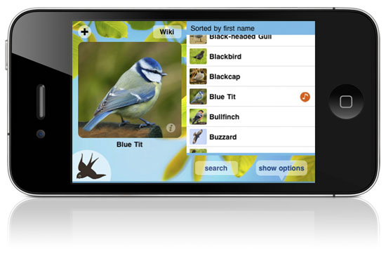 Chirp! birdsong app for iOS/iPhone