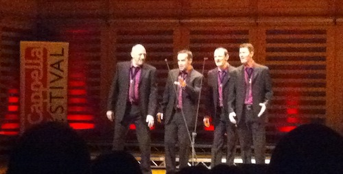 Crossfire barbershop quartet at LACF
