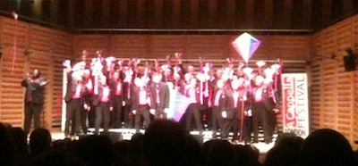 Cottontown Chorus perform Let's go fly a kite at the London A Cappella Festival