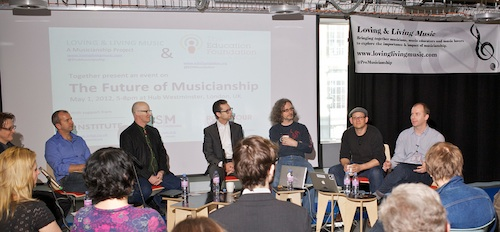 """The Future of Musicianship"" Panel (Photo: Alan Tucker, click to enlarge)"