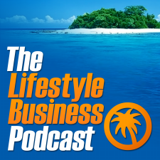 The Lifestyle Business Podcast. Dan and Ian: I apologise for using this old-school logo here.